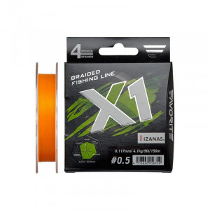 Шнур Favorite X-1 PE4x 150m orange 0.104 8lb