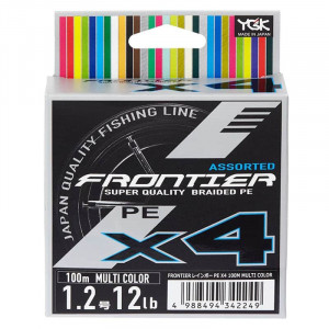 Шнур YGK Frontier Assorted X4 100m #0.8 multi color